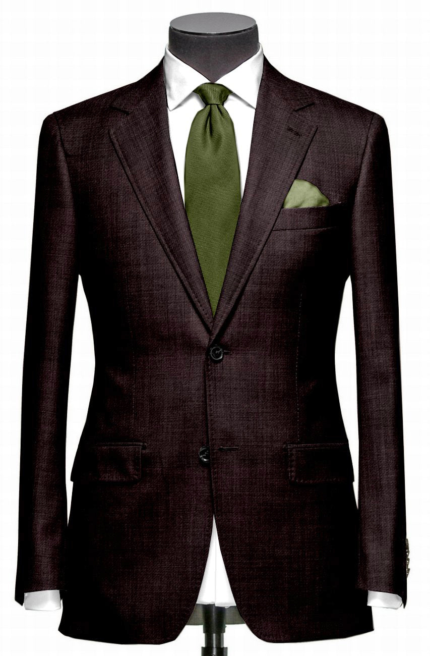 EThomas Wool Cashmere: Chocolate Brown Jacket