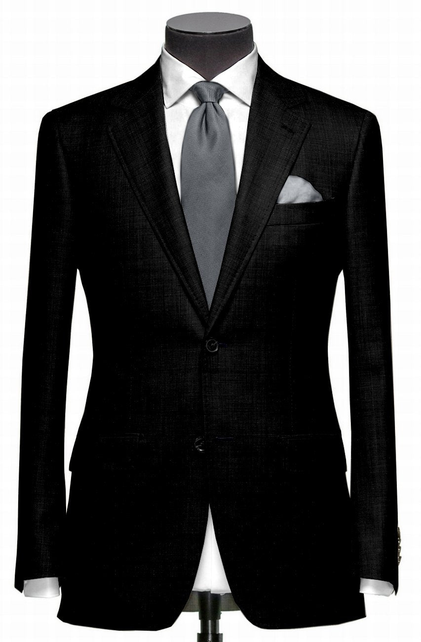 EThomas Wool Silk Cashmere: Dotted Black Windowpane Jacket
