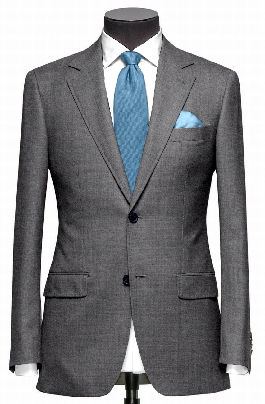 EThomas Wool Cashmere: Light Grey Wool Jacket