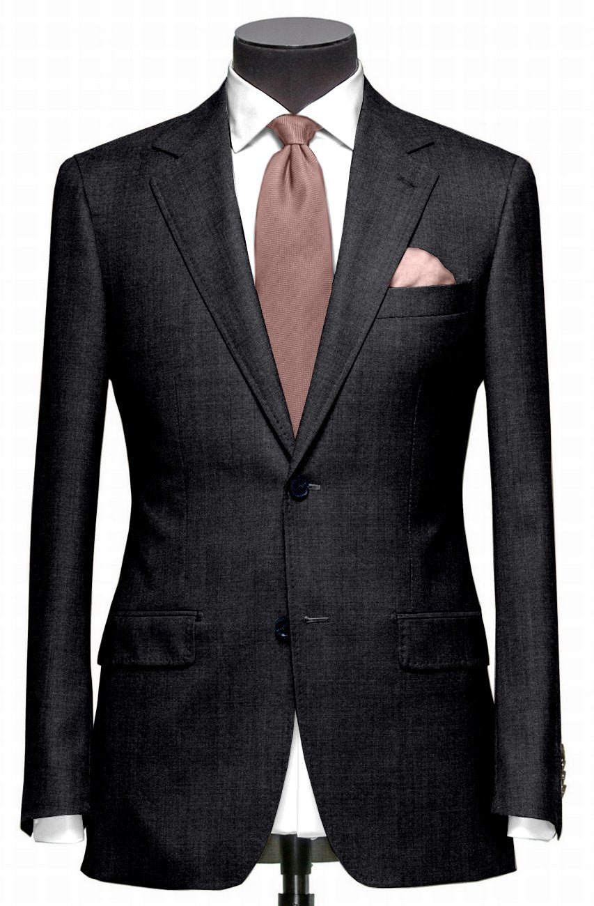 EThomas Wool Cashmere: Dark Grey Wool Jacket