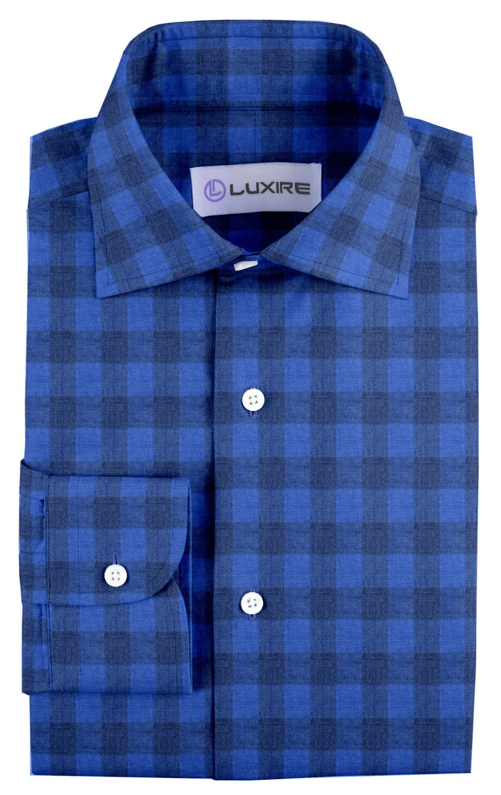 Linen: Shark Blue Casual Gingham (910817988)