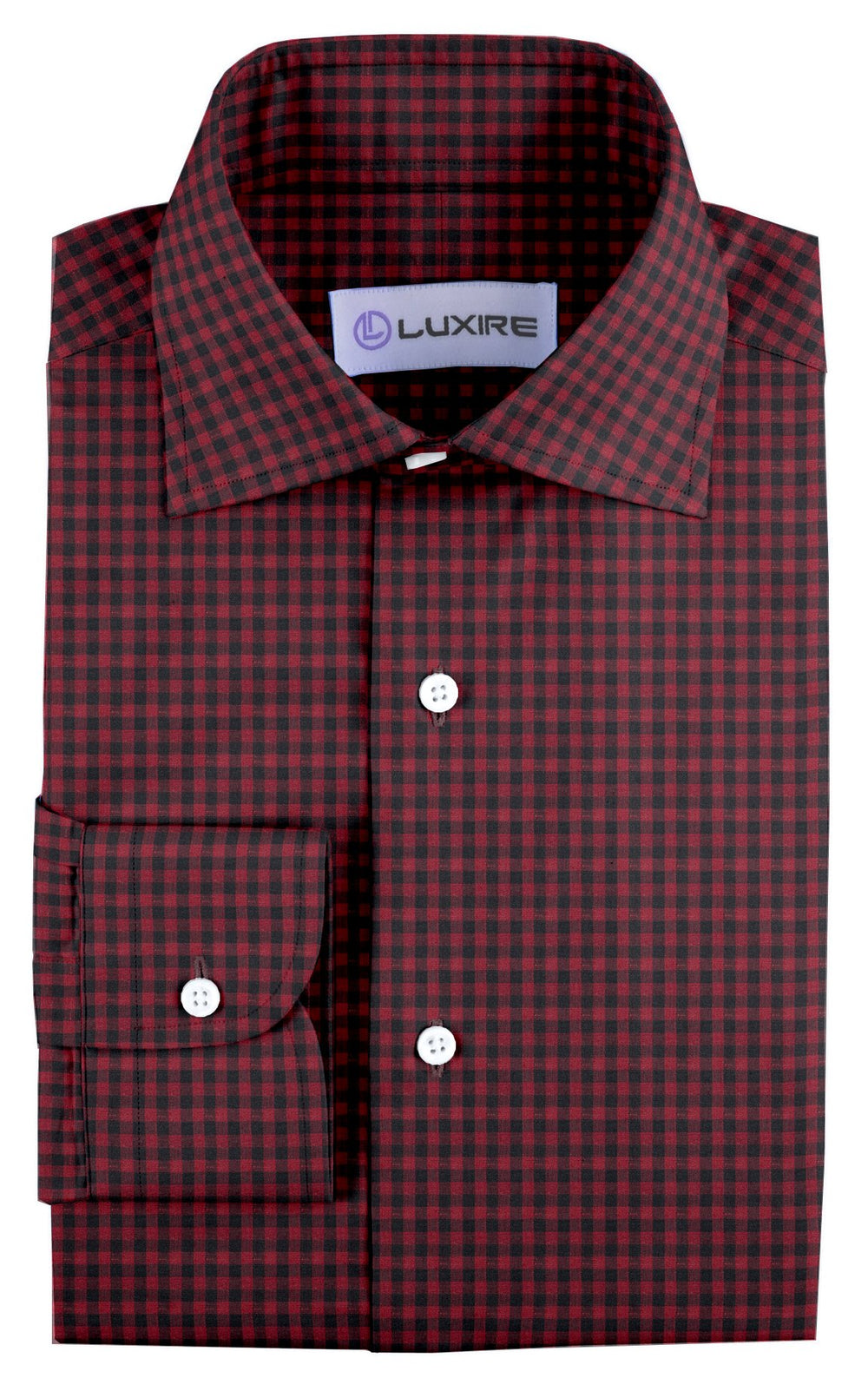 Linen:Red Black Gingham Checks