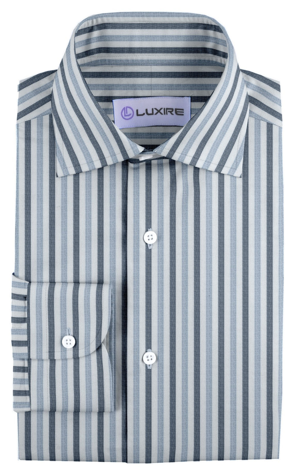 Linen: Shades Of Blue/Grey Bengal Stripes (260057413)