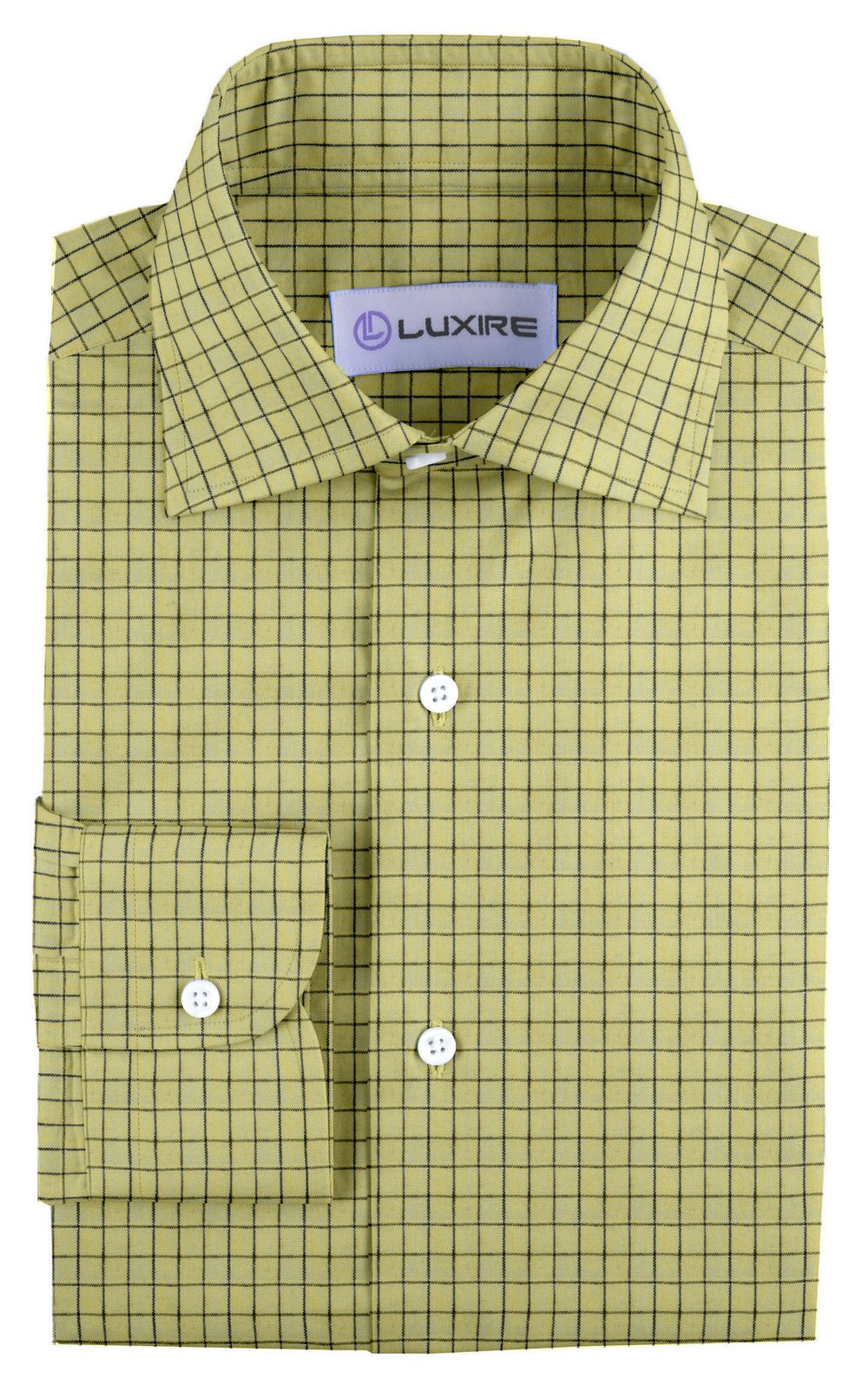 Linen: Yellow with Blue Black Graph Checks