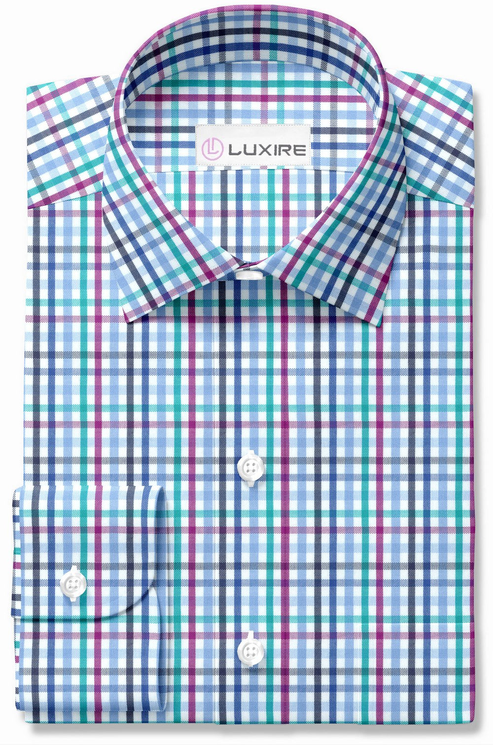 Rainbow Gingham Oxford
