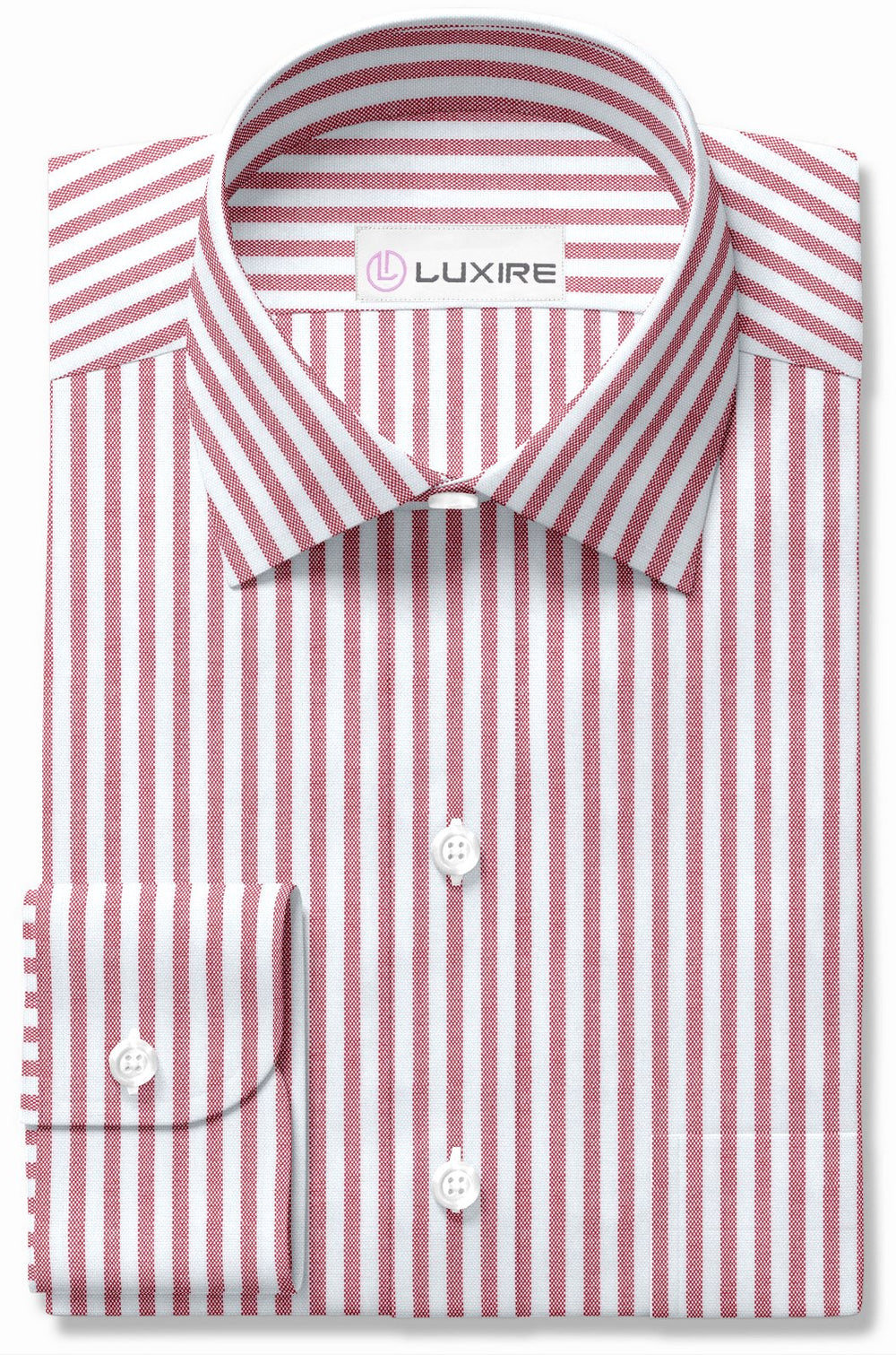 Red Candy Stripes Oxford