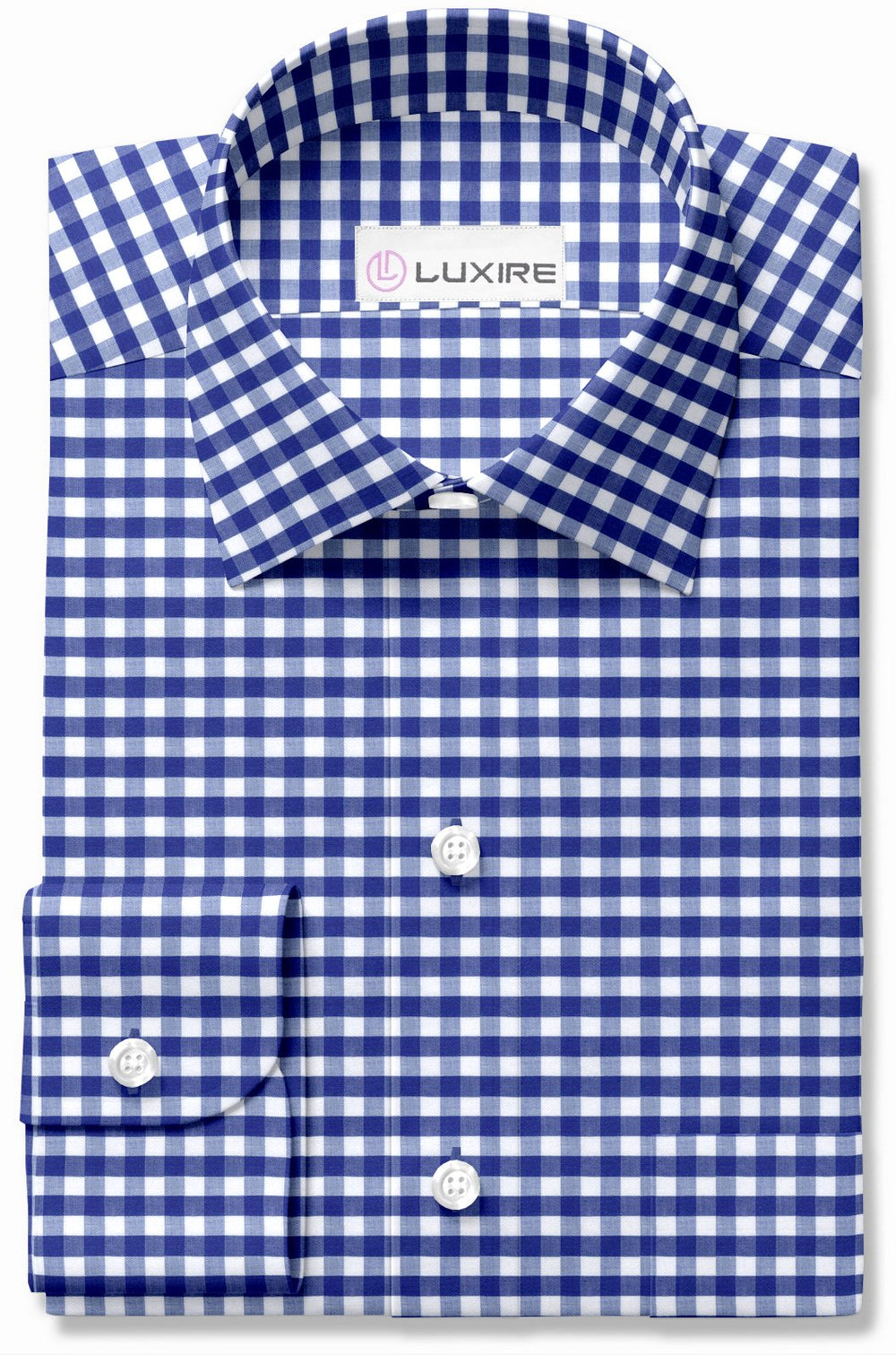 Cotton Linen - Blue White Gingham
