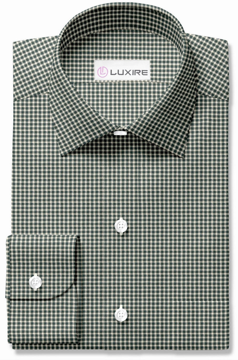Dark Green Gingham Oxford