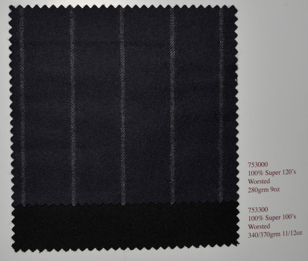 Holland Sherry Classic Worsted Flannel Dark Charcoal Flannel (380659972)