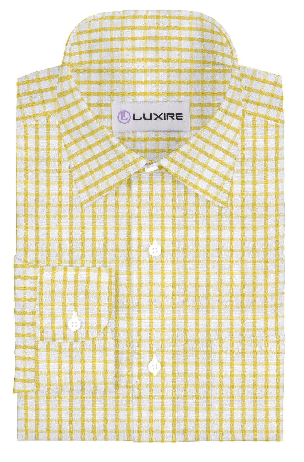 Friday Shirt: Yellow Graph Checks (228922629)