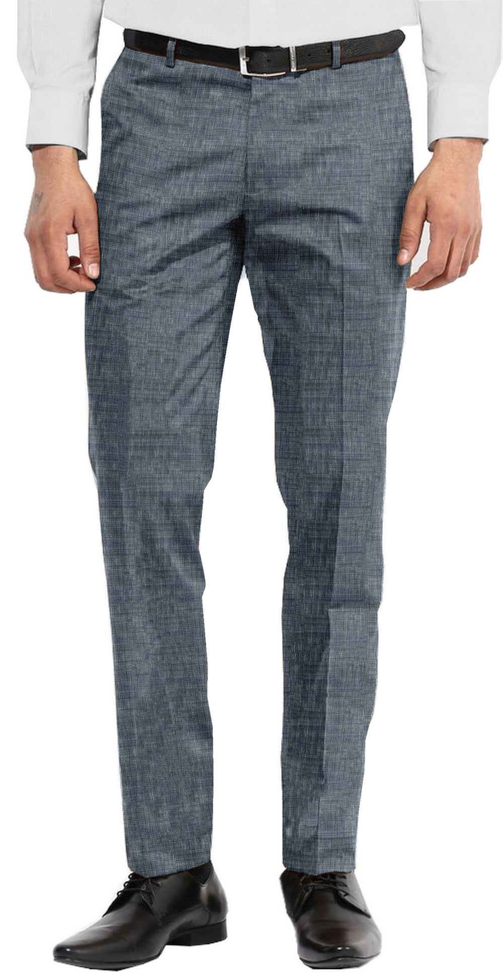 Navy Black Chambray Linen Pant
