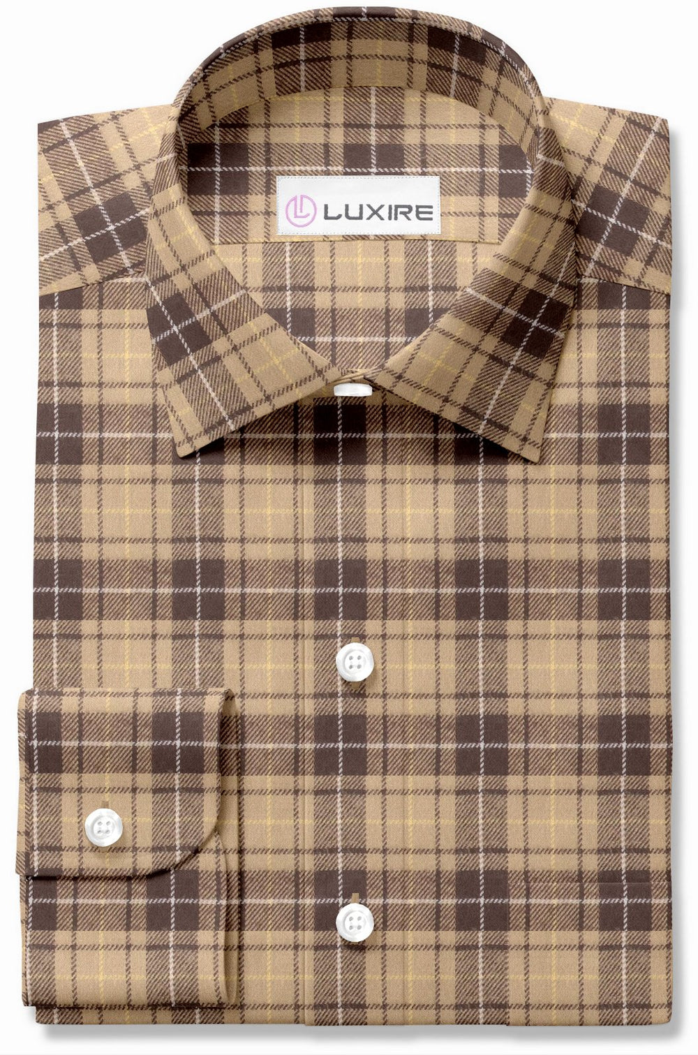 Tan Brown Tattersall Plaid Flannel (116724672)