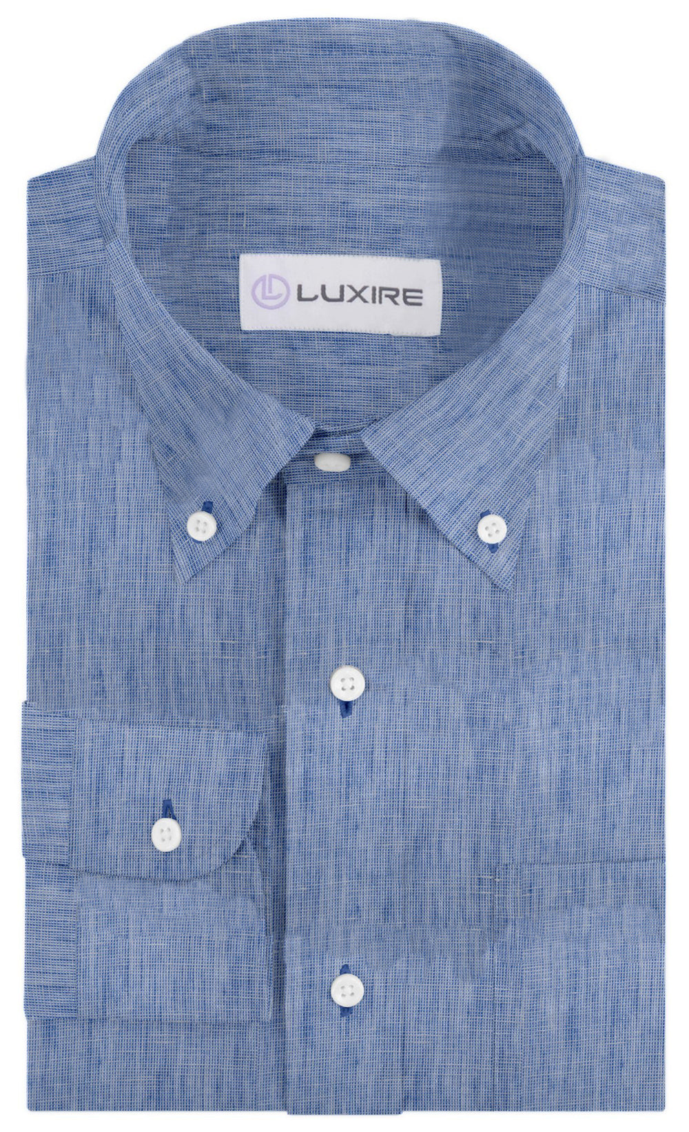 Linen: Pale Blue End-on-End