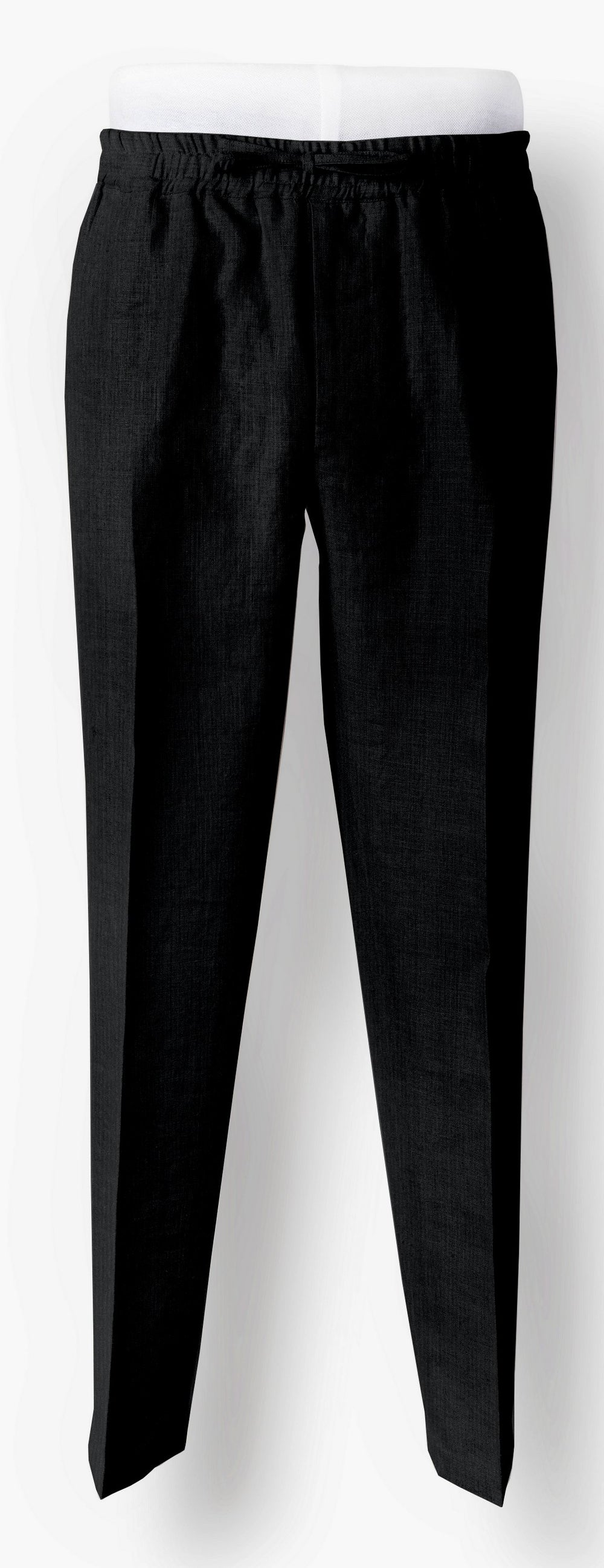Black Corduroy 18 Wale Drawstring Pants