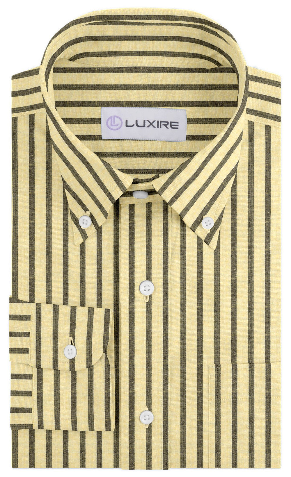 Yellow Grey Stripes Linen (131313571)