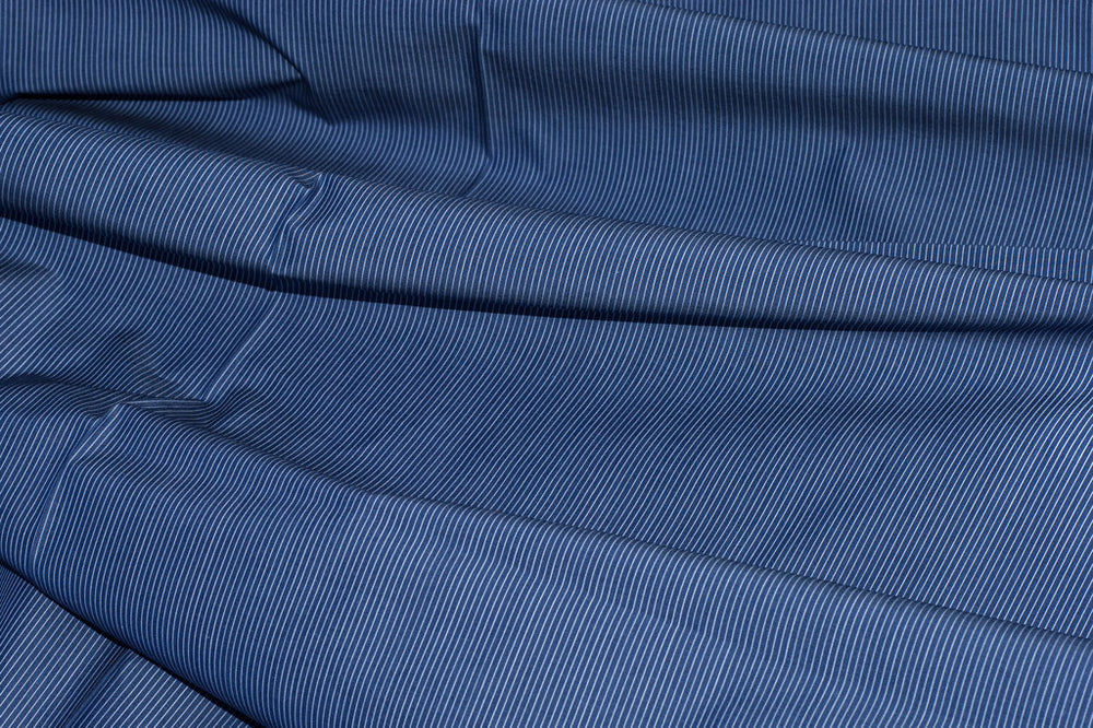 Navy Blue ICE Pinstripes by Monti