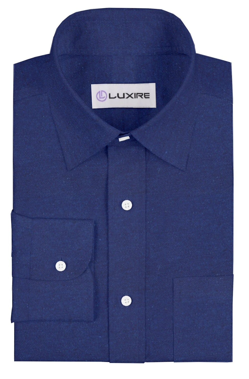 Linen-Cotton: Navy Polo