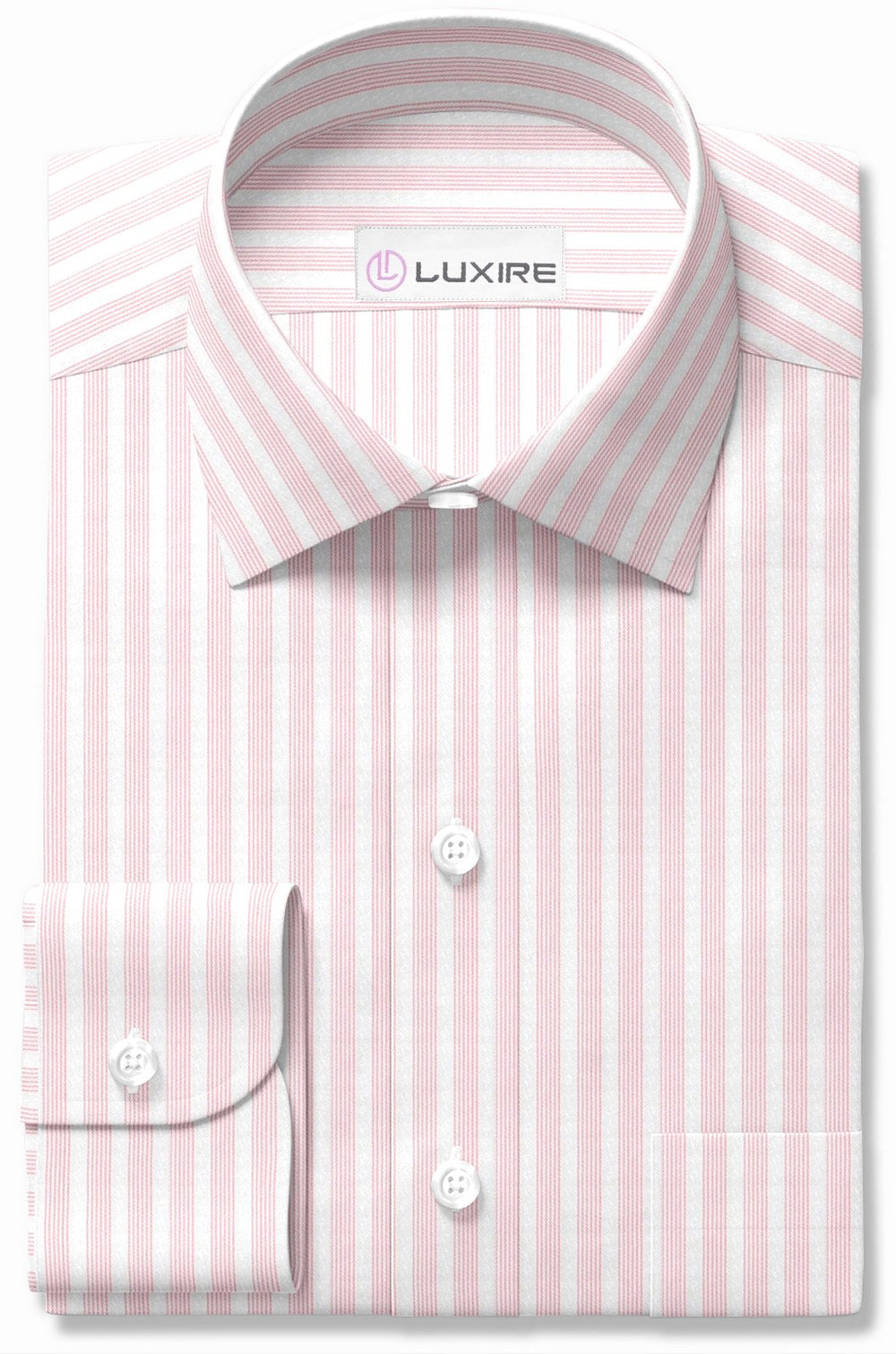 Pink Stripes on Textured White