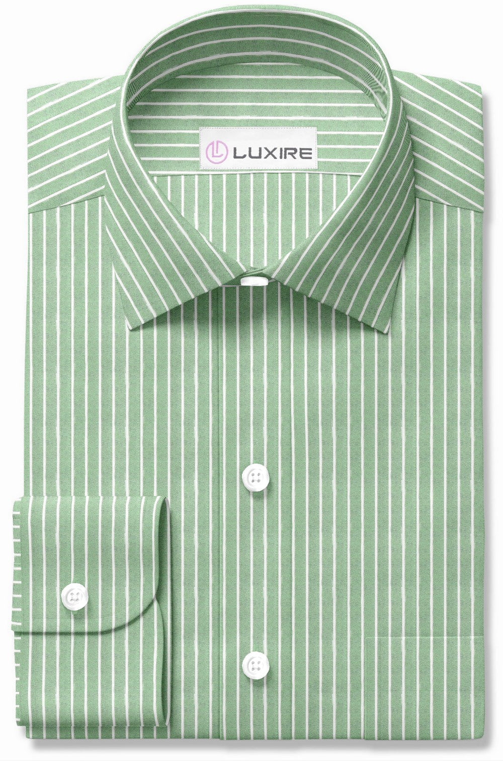 White Stripes On Fern Green Oxford (264131557)