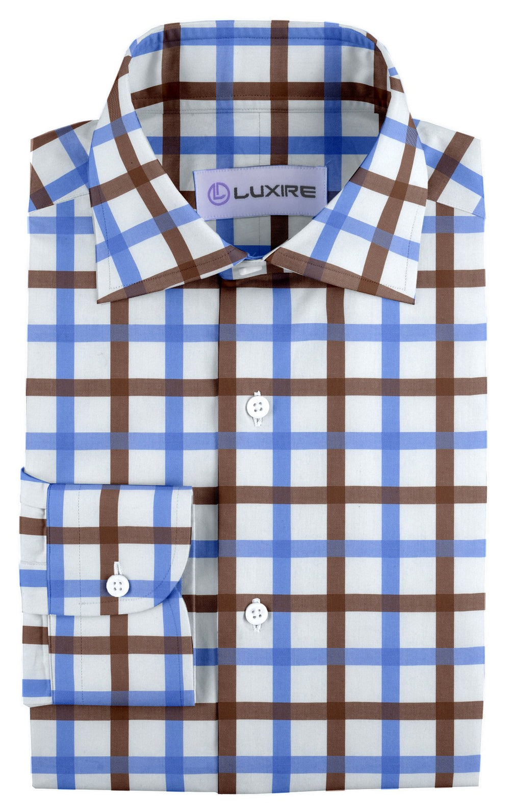 Monti Brown Blue Windowpane Tattersall (332256625)