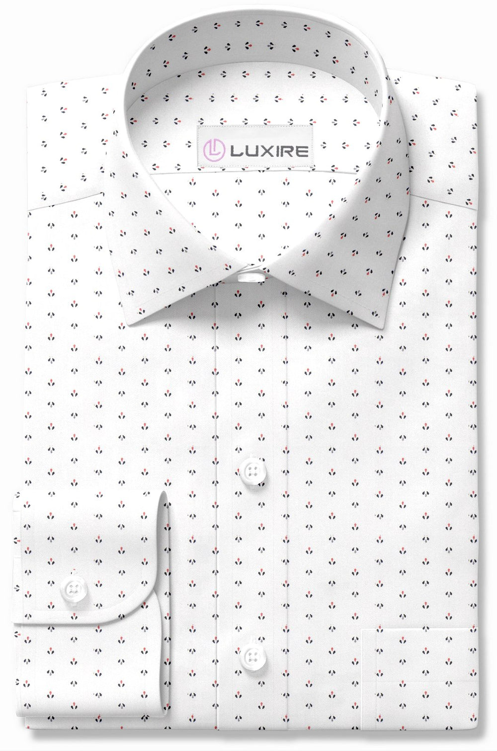 Print: White with Navy Orange Droplets (992389188)