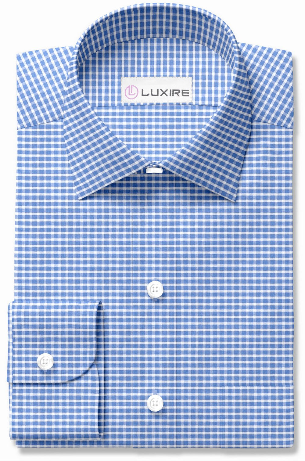 Easy-to-Iron White Blue Graph Checks (111604042)