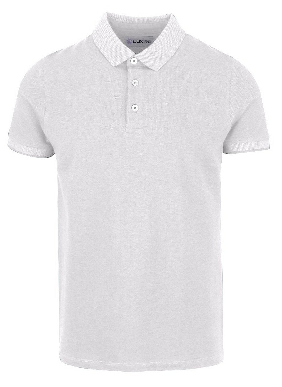 Milky White Polo T-shirt