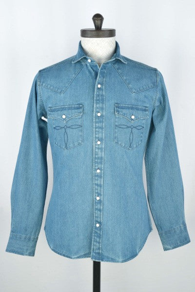 Heavy Denim Chambray Indigo Shirt - 12 Oz