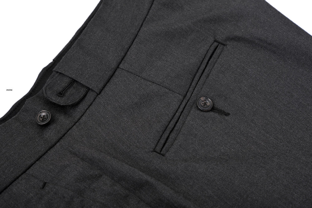 Charcoal Grey Cotton Dress Pants (203974869)
