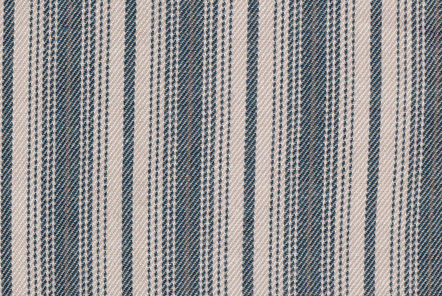 Vintage - Blue Stripes on Ecru