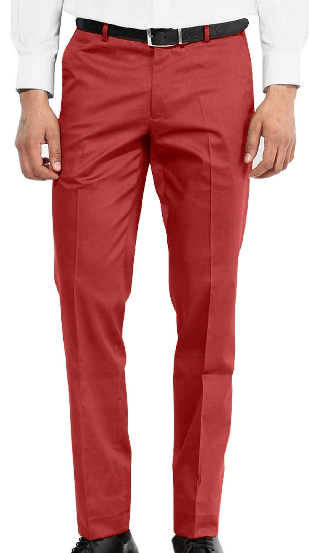 Washable Wool Pants: Red