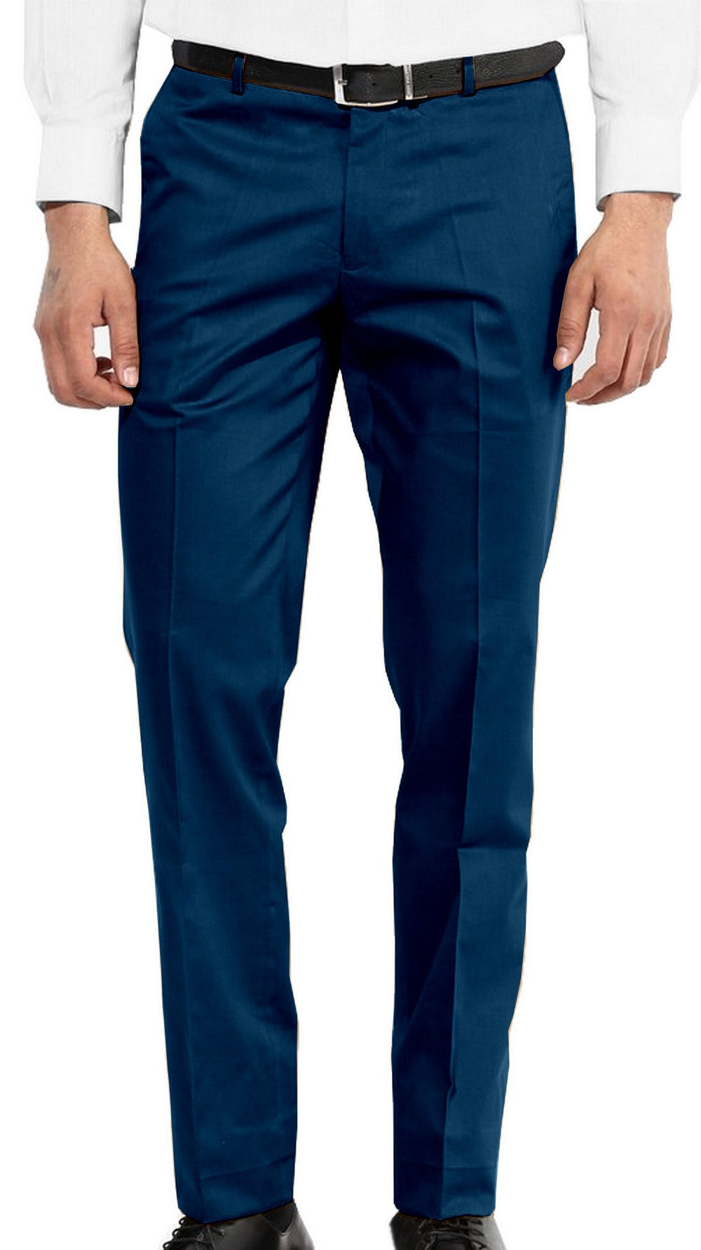 Washable Wool Pants: Snorkel Blue Fine