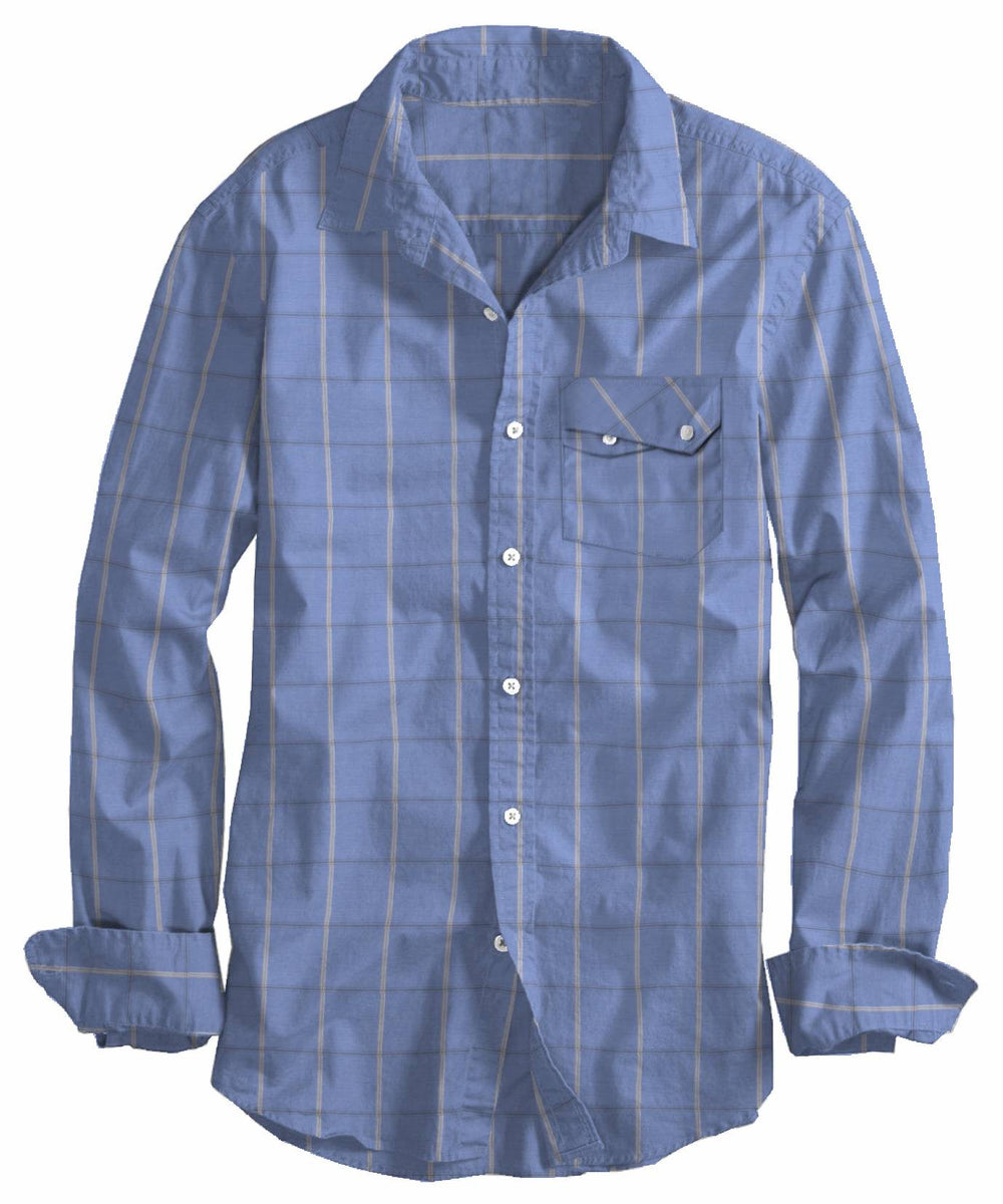 White grey Windowpane Checks On Light Blue (4208374404)