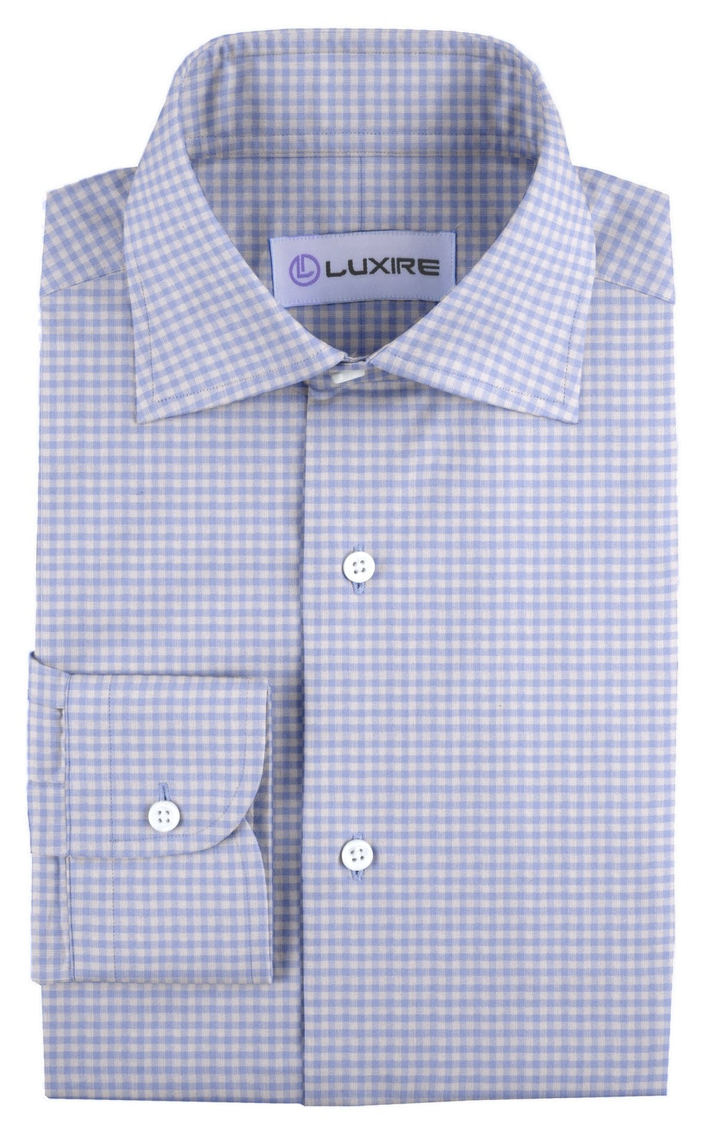 Linen: Blue Small Gingham (542930436)