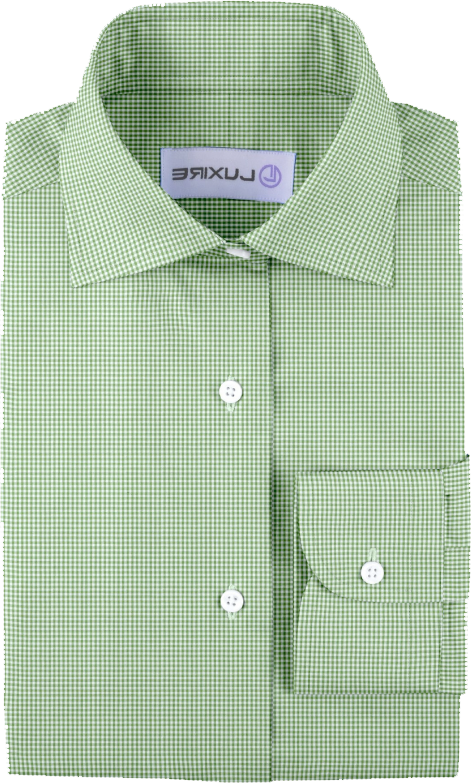 Green Small Gingham Seersucke