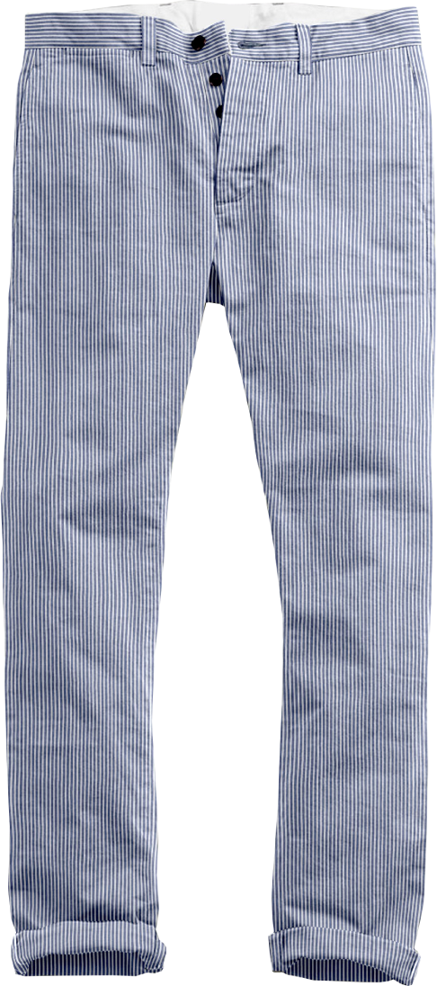 Blue Stripes Seersucker Pants
