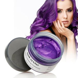 Color Hair Wax Styling Pomade Silver Grandma Grey
