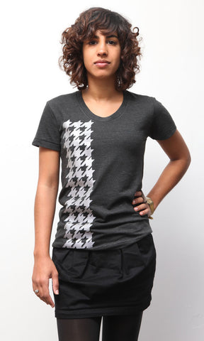 Reflective Houndstooth Tee Women's Tri-Black