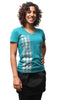 Reflective Houndstooth Tee Women's Evergreen