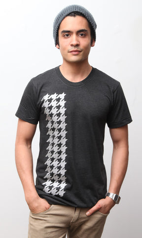 Reflective Houndstooth Tee Unisexy Tri-Black