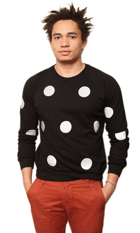 Mo' Polka Black Sweatshirt