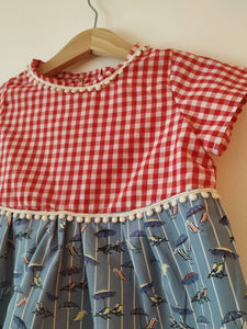 Short-sleeve baby summer dress
