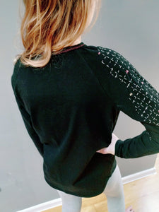Long sleeve t-shirt with embodery (black)