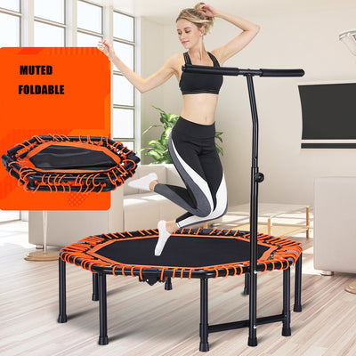 "48"" Foldable Exercise Fitness Trampoline"
