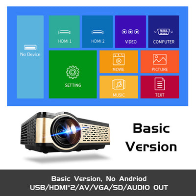 REAL TV HD Projector Basic/Android version with WIFI and Bluetooth