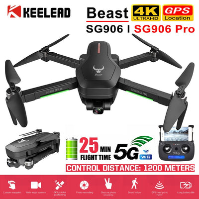 Pro Drone with GPS 4K 5G WIFI 2-axis gimbal Dual camera professional