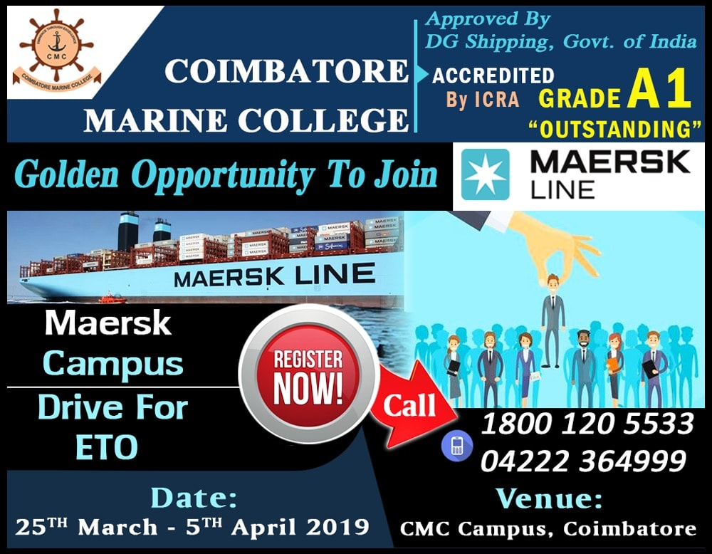 Maersk Line Campus Drive for ETO @ CMC Campus