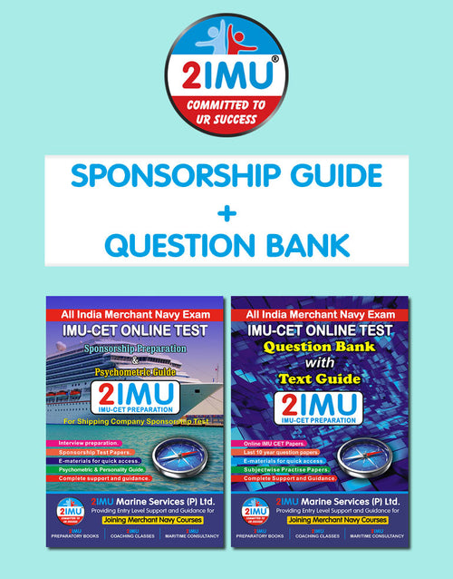 IMU CET Dual Combo Pack (Sponsorship Guide + Question Bank)