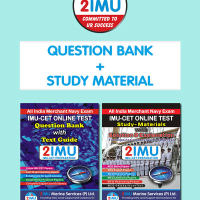 IMU CET Dual Combo Pack (Question Bank + Study Material)