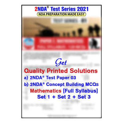 NDA Exam 2021 : 2nda Test Series 3